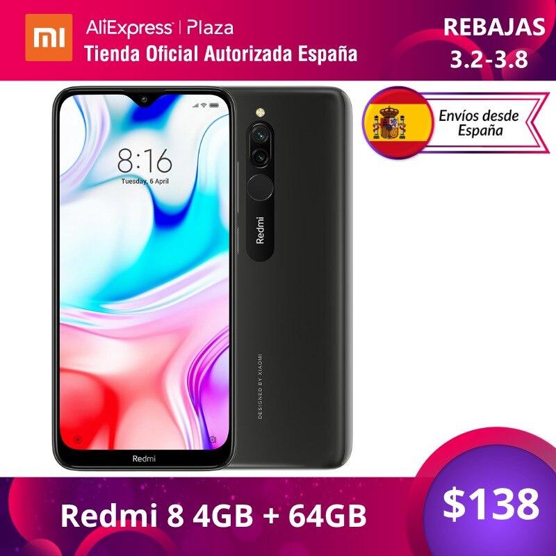 Xiaomi Redmi 8 (64GB ROM con 4GB RAM, Cámara de 12MP, Android, Nuevo, Móvil) [Teléfono Móvil Versión Global para España] redmi8