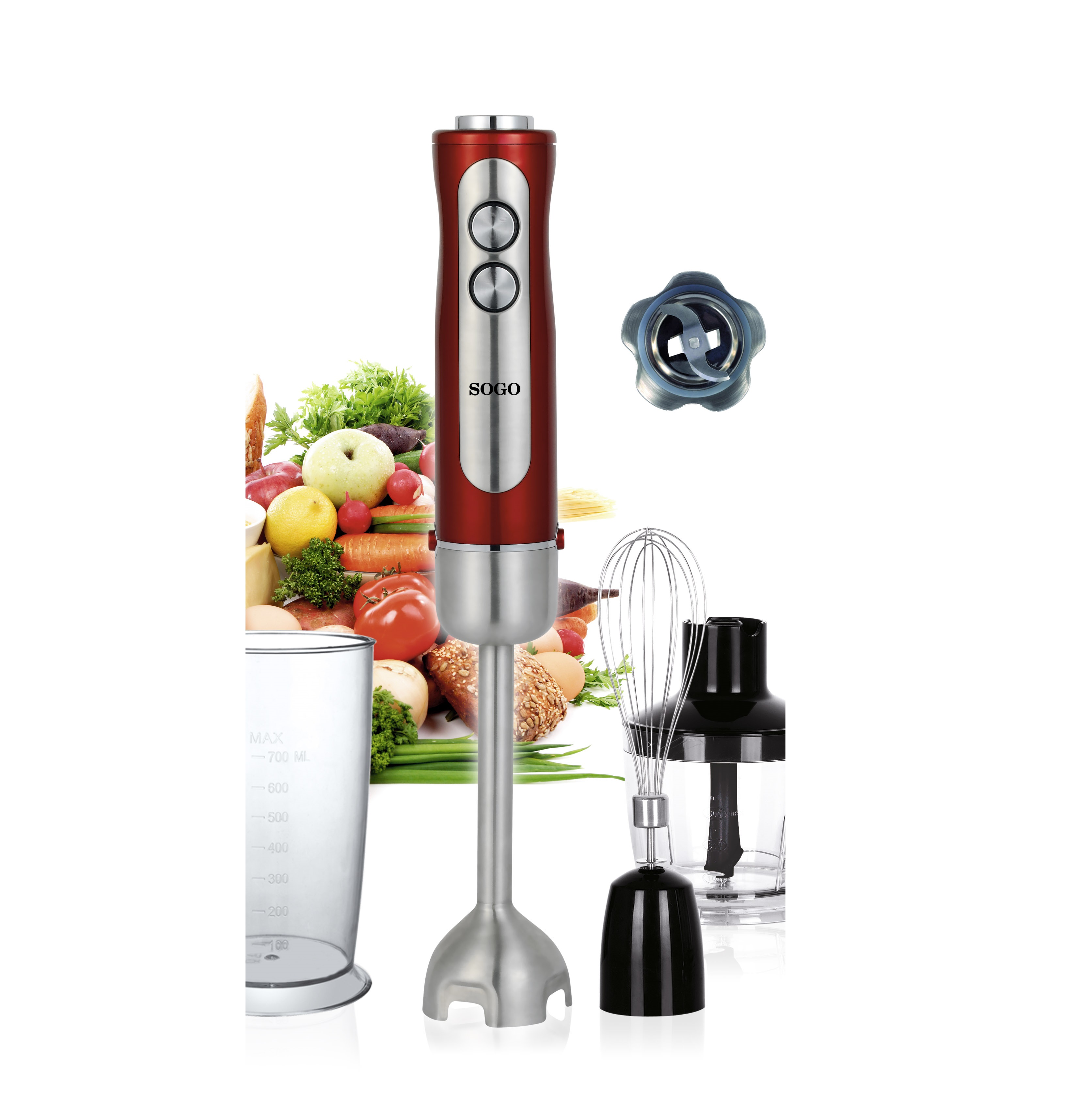 HAND BLENDER INOX 3 items accessories 850 W|Food Mixers| |  - title=
