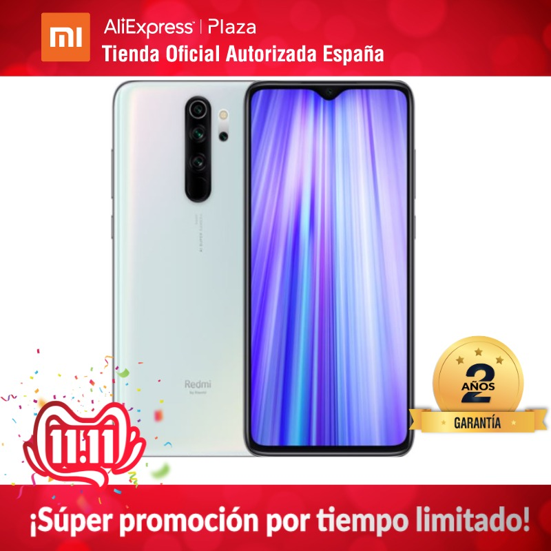 Redmi Note 8 Pro (128GB ROM Con 6GB RAM, Cámara De 64 MP, Android, Nuevo, Móvil) [Teléfono Móvil Versión Global Para España]