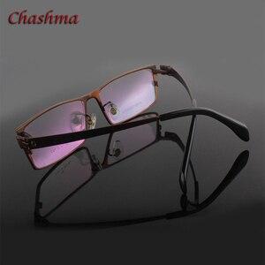 Image 5 - สุภาพบุรุษหน้ากว้างไทเทเนียมบริสุทธิ์แว่นตากรอบแว่นตา Full Rimmed Gafas แว่นตาแว่นตา