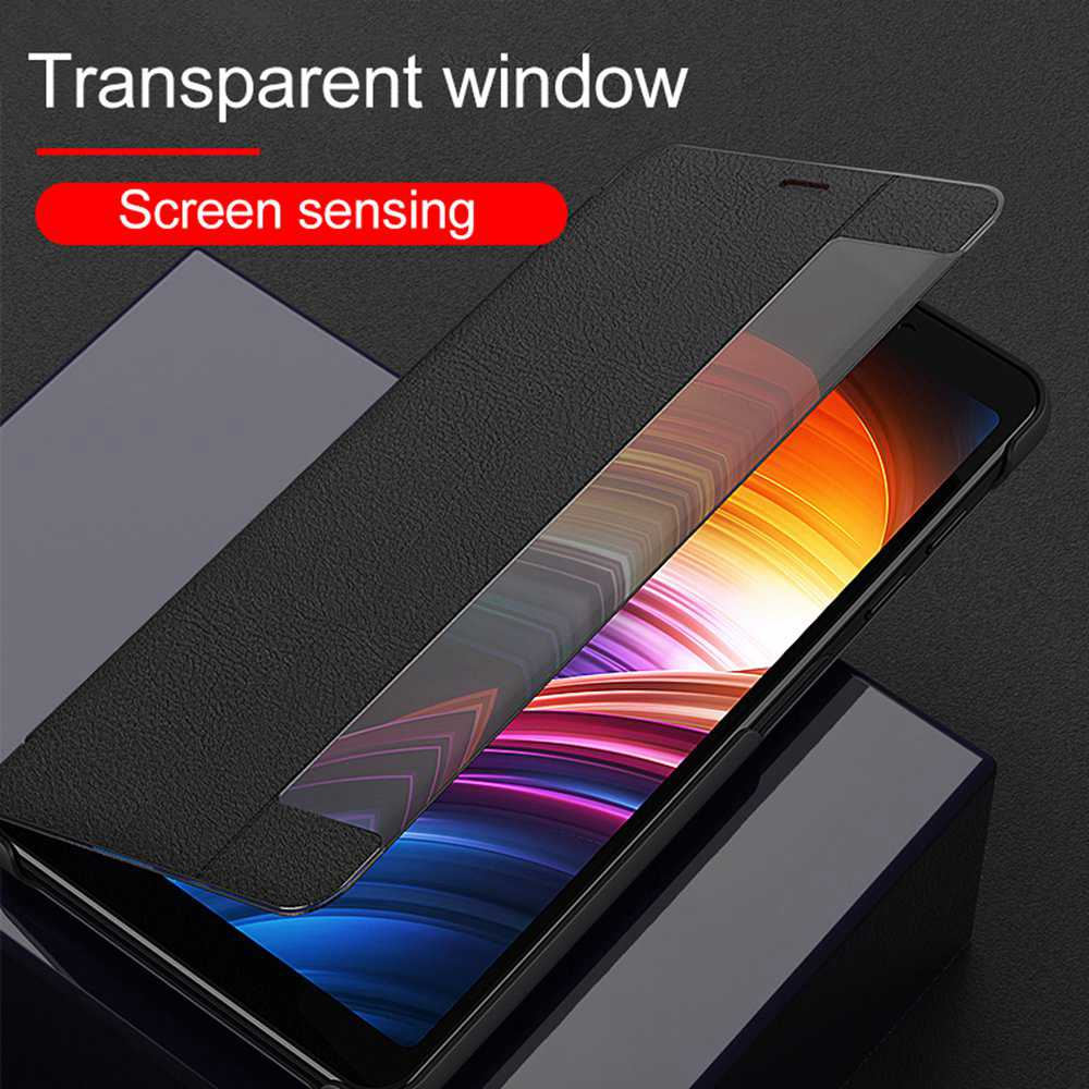 KISSCASE Smart Window View <font><b>Case</b></font> For Samsung S20 Plus S20 Ultra A51 A71 A91 Note10 S10 Lite S8 <font><b>S9</b></font> S10 S20 S10E Flip <font><b>Leather</b></font> Cover image