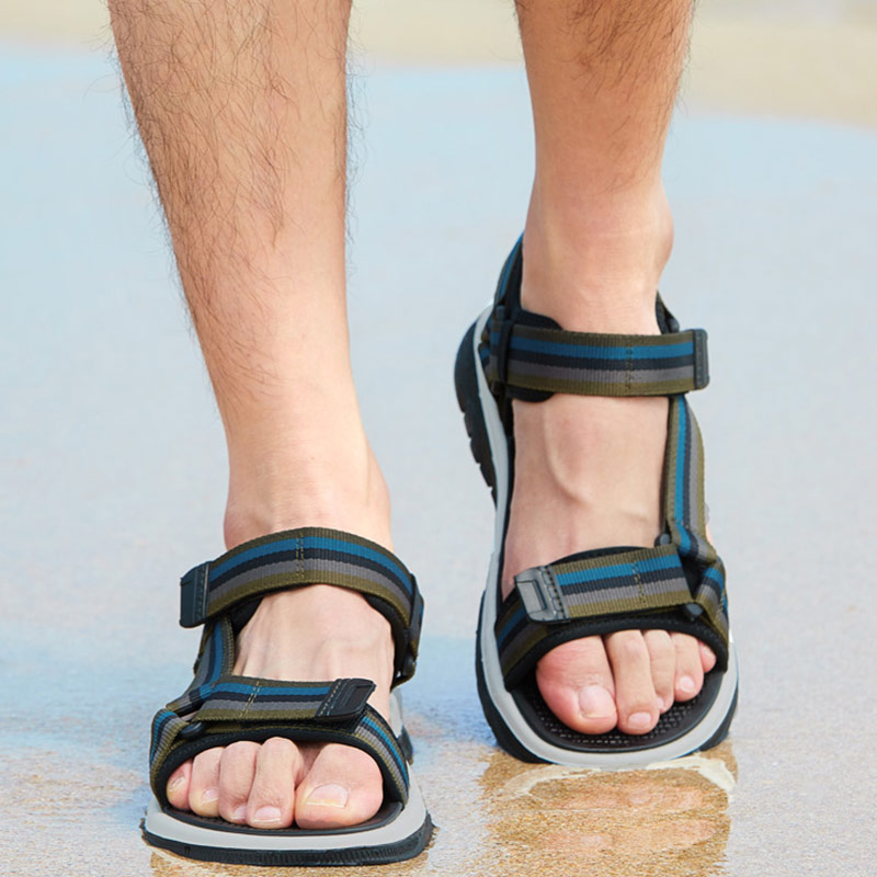 الجمل الربيع الرجال الصنادل مريحة تنفس حقيقية أحذية من الجلد الرجال في الهواء الطلق صنادل شاطئ خفيفة الوزن أحذية رجالي-في صنادل رجالية من أحذية على  مجموعة 2