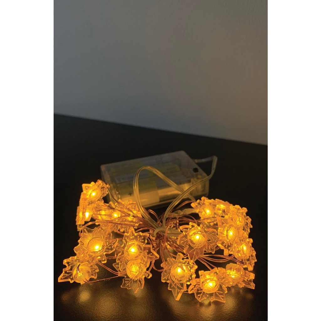 Leaf Led Battery 20 LED LENGTH OF 2 METERS LENGTH MINI LEAF DECORATED COPPER WIRE