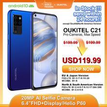 OUKITEL 4G C21 Smartphone Octa Core 4G + 64GB 4000mAh telefon komórkowy Selfie 6 4 #8221 FHD + dziurkacz ekran 20MP Quad aparat telefon tanie tanio Nie odpinany CN (pochodzenie) Android Rozpoznawania linii papilarnych Rozpoznawania twarzy Inne 16MP Szybkie ładowanie 2 0