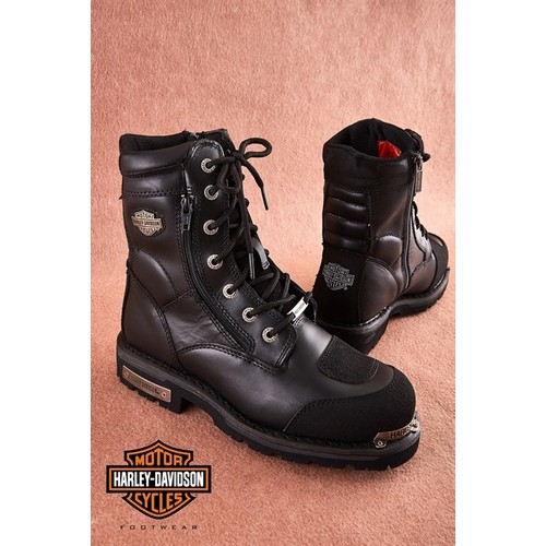 Boots Mountain-Shoe Davidson Waterproof Black High-Quality Harley Riddick Buzlanmaya