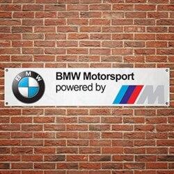 BMW POWERED Banner pvc taller decoracion sport garage decoration workshop Flag Atelier de décoration