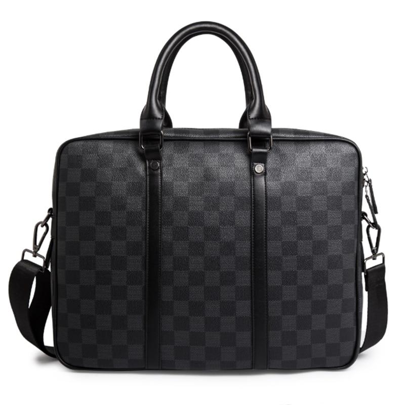 HORIZONPUS FAMOUS BRAND LUXURY TRENDY TRAVEL BUSINESS SHOULDER BAG MESSENGER BAG CHECK PATTERN