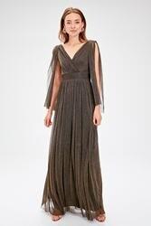 Модное Вечернее платье с бантом TPRSS19FZ0466