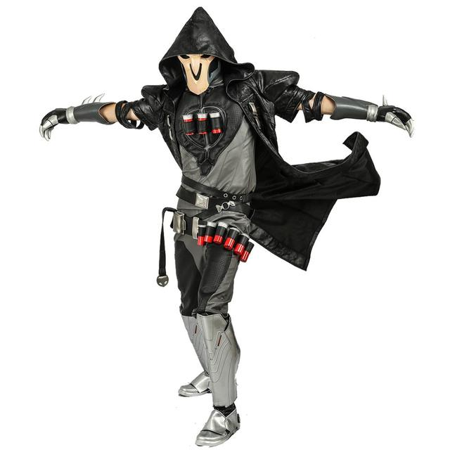 COSTHEME Overwatch Reaper Robe, Officially Licensed, Halloween Cosplay Costume Coat Gabriel Reyes Game Anime Apparel with Spine 5