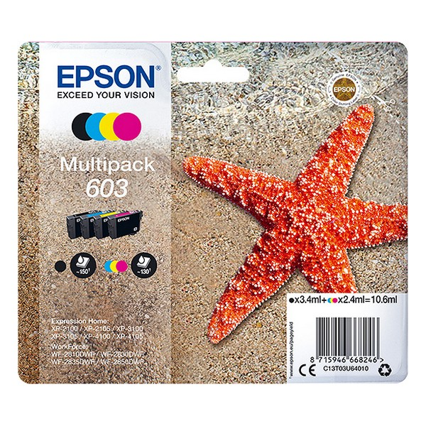 Original Ink Cartridge (pack Of 4) Epson 603 Multipack