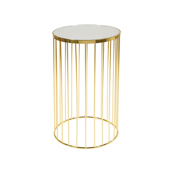 Small Side Table (41 X 41 X 65 Cm) Brass Crystal Golden