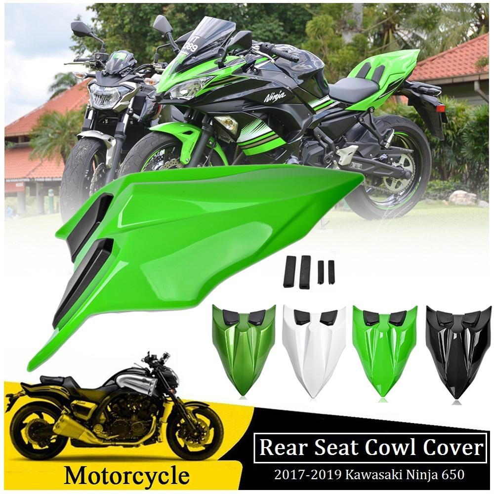 For <font><b>Kawasaki</b></font> Ninja650 Z650 Seat Cover Rear Pillion Passenger Hard Solo Seat Cowl Hump Faring <font><b>Ninja</b></font> <font><b>650</b></font> Z <font><b>650</b></font> 2017 2018 2019 image