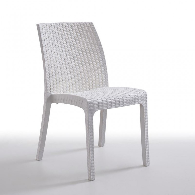 Chair VIKA, Stackable White Polypropylene