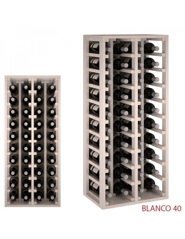 Botellero  Blanco 40  Botellas