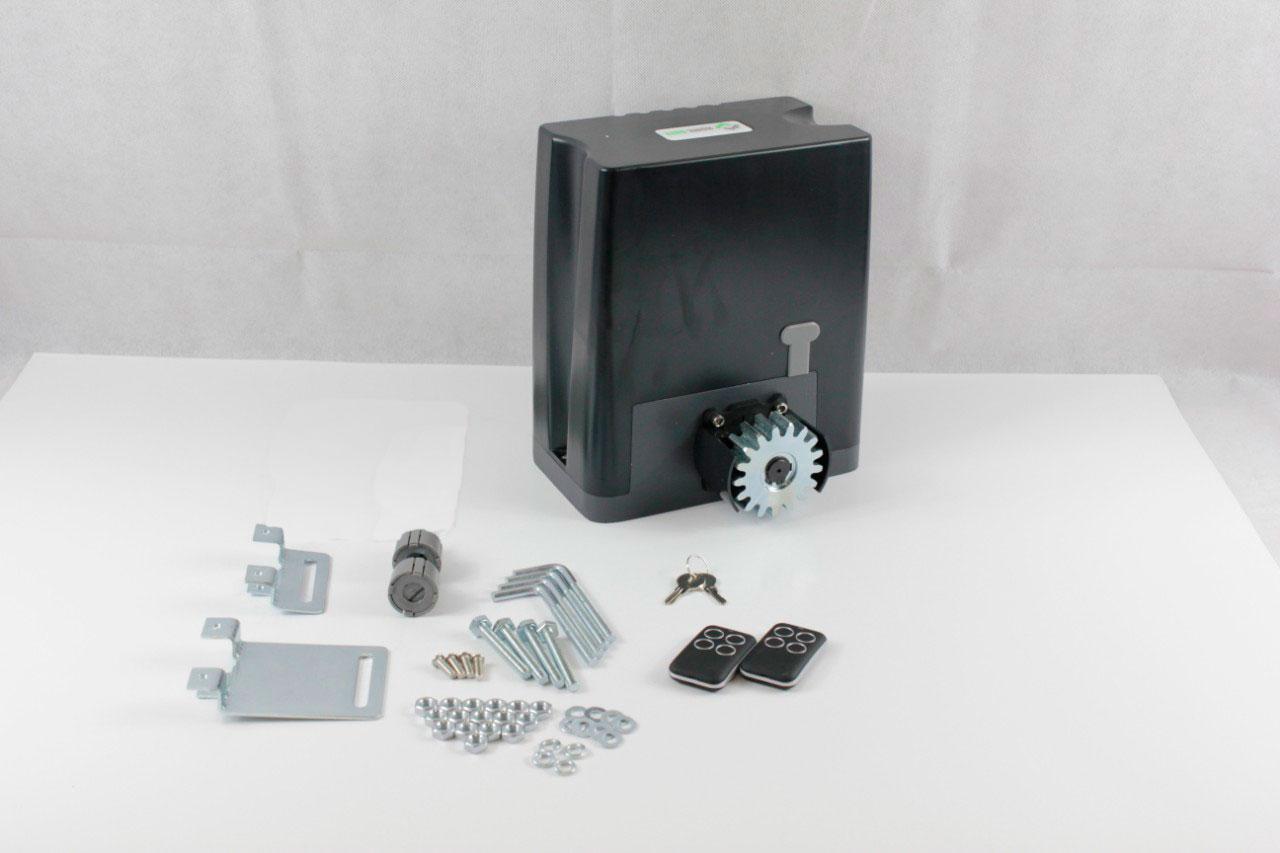 Operador automático da porta de deslizamento 500ac/motor da engrenagem para o peso residencial 500kg das portas com fotocélula clara do teclado das cremalheiras opcional