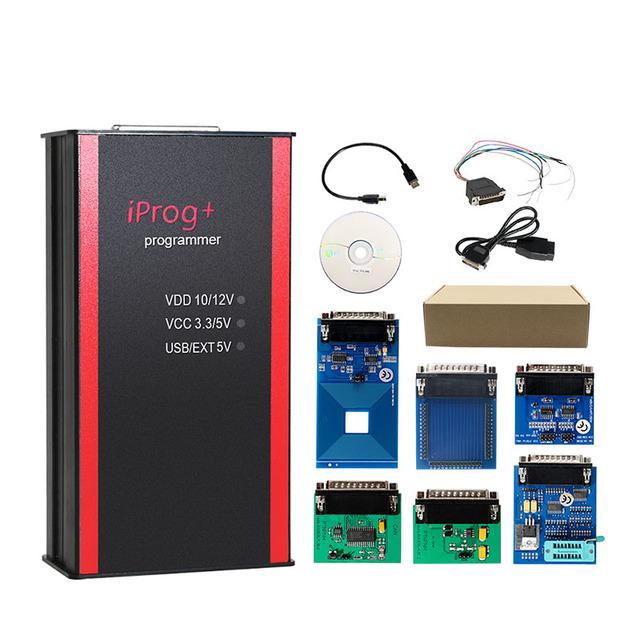 Best Price iPROG+ Prog Programmer Updated V77 iProg Supports IMMO/Mileage Correction/Airbag Reset Replace Carprog/Digiprog/Tango
