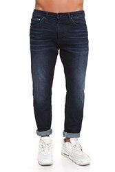 CR7 Jeans voor mannen Kleur indigo Donkerblauw Casual Jeans Casual Slim Was Dun met Vijf Zakken CRD001B