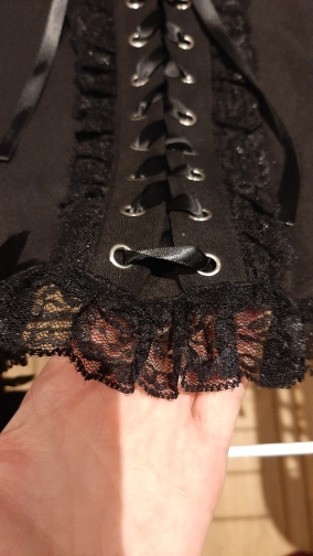 Black Lace Tank Top E-girl Gothic photo review