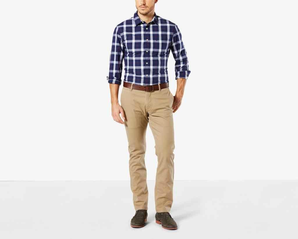 Pantalones De Hombre Dockers 47683 00 Lavado Del Pacifico Ajustado Conico Pantalones Informales Aliexpress