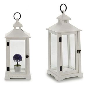 Lantern White (2 Pieces) (26 x 72 x 31 cm)
