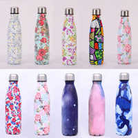 500ML Portable Thermos Bottle Men Women Stainless Steel Water Bottle Vacuum Flasks Insulated Cup High Capacity Travel Mug New