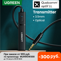 Ugreen Bluetooth Sender 5,0 TV Kopfhörer PC PS4 aptX LL 3,5mm Aux SPDIF 3,5 Jack Optische Audio Musik Bluetooth 5,0 Adapter
