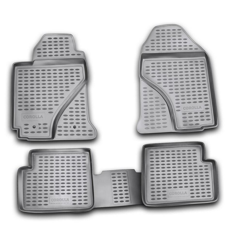 Floor Mats For TOYOTA Corolla 06/2002-2007, 4 Pcs Free Shipping (gray) NLC.48.03.211k