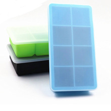 2pcs 8 Holes Big Ice Cube Mold Square Shape Silica Gel Ice Cube Maker Ice Tray Ice Mold Kitchen Accessories swan silica gel mold 2pcs