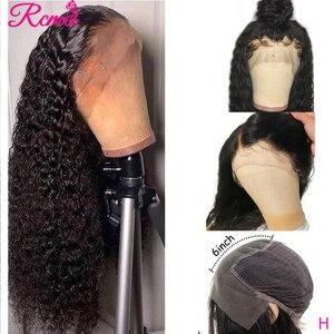 13x6 человеческие волосы с глубокой волной спереди, парики для черного бразильского прозрачного кружевного фронта, предварительно отобранны...
