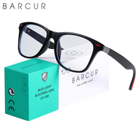 BARCUR Anti Blue Light Glasses Blocking Computer TV Rays Glass Frame Men Glass Women Trend Styles Brand Optical Reading