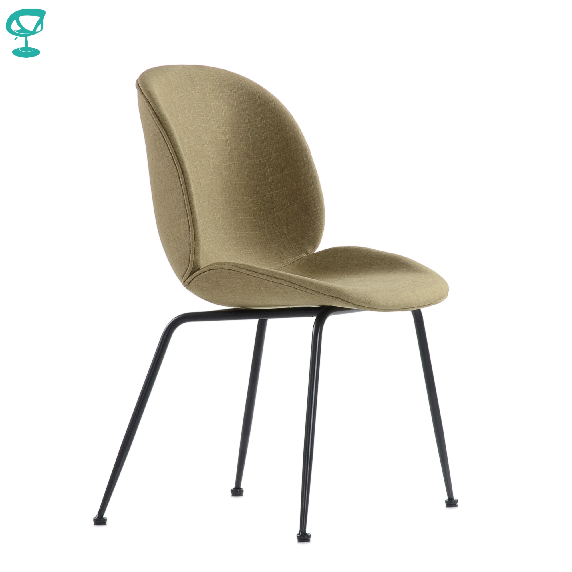 95741 Barneo S-17 Kitchen Chair On Metal Legs Seat Fabric Chair For Living Room Chair Dining Chair Furniture For Kitchen