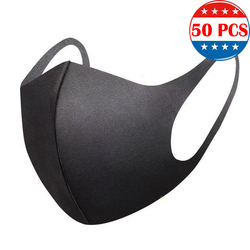 50PCS IN STOCK PM2.5 Pollution Mask Anti Air Dust and Smoke Pollution Mask with Elastic Earloop Washable Mask Made For Men N95