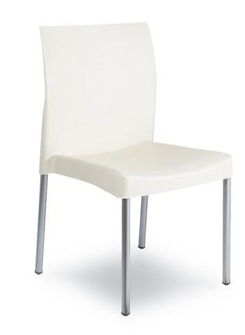 Chair SANDRA, Aluminum, Polypropylene White *