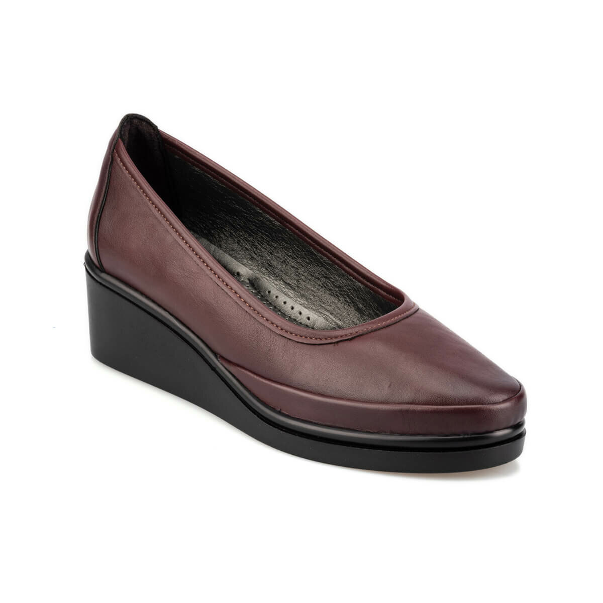FLO 92.151038.Z Burgundy Women 'S Wedges Shoes Polaris