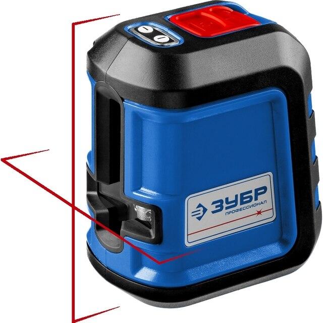 Нивелир лазерный ЗУБР Профессионал 34902-2 (Рабочий диапазон 15 м., точность 0,3 мм., 4 режима проецирования линий, резь