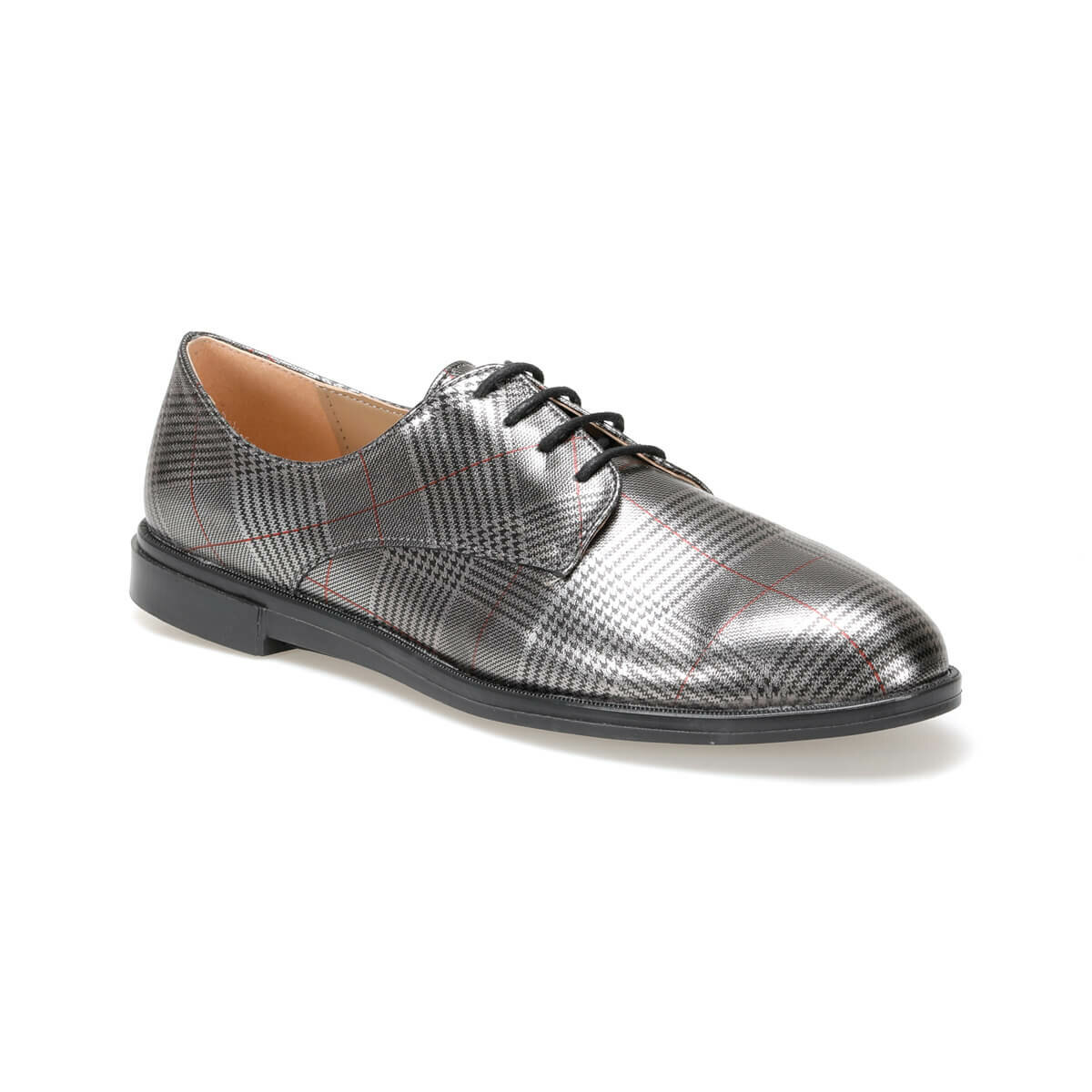 FLO CRABBE77Z PATENT LEATHER Gray Women 'S Oxford Shoes BUTIGO