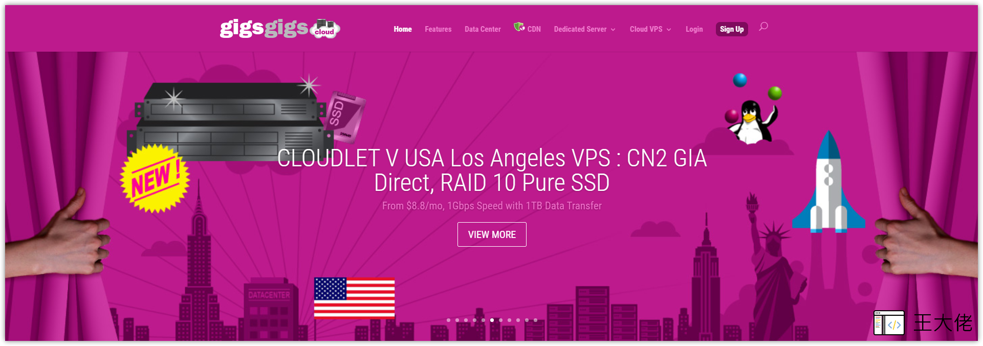 GigsGigsCloud 美国 CN2 GIA VPS 测评与注册购买教程