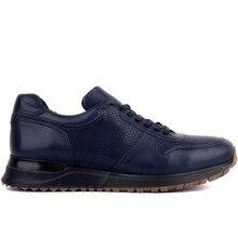 Sail Lakers zapatillas de deporte informales de cuero genuino para hombre, zapatillas con cordones para hombre, zapatos cómodos transpirables para caminar al aire libre, zapatillas de hombre para caminar