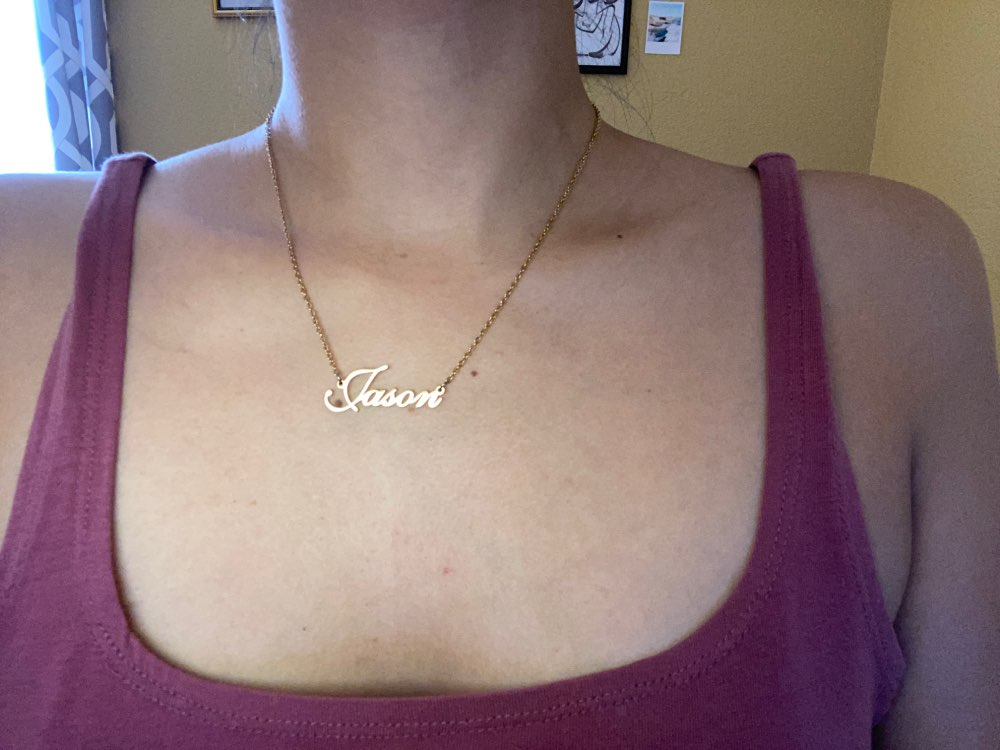 Personalized Name Beautiful Necklace photo review