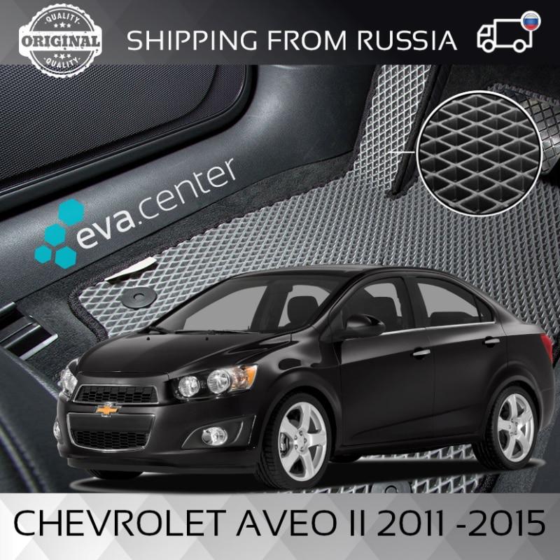 Tapis de voiture EVA sur la Chevrolet Aveo T300 II berline 2011-2015 lot de 4x tapis et cavalier tunnel/Eva tapis voiture autocollants