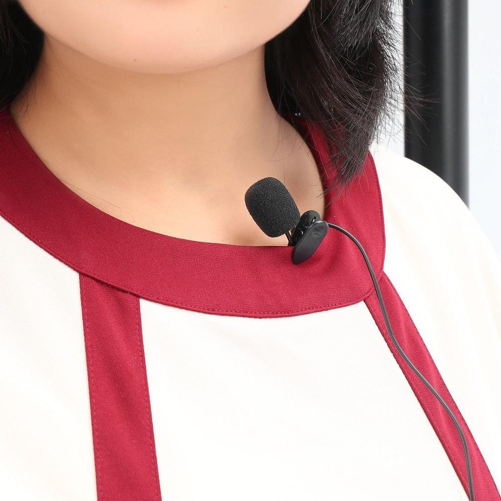 Универсальный портативный мини-микрофон, гарнитура с лацканом, петличный микрофон с зажимом 3,5 мм для обучения речи, конференций, гидов, Сту...
