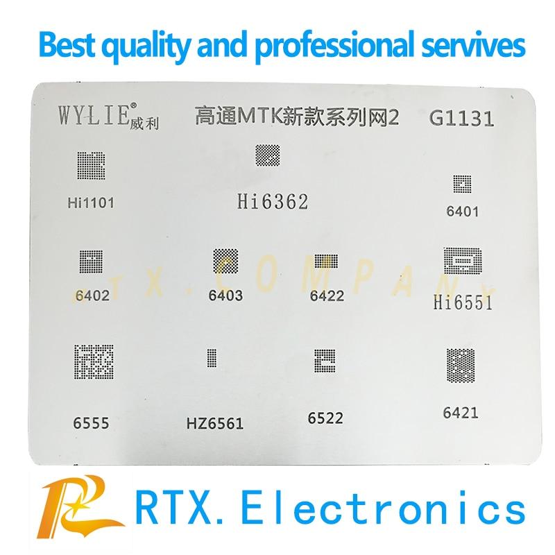 Hi1101 Hi6362 Hi6522 Hi6551 Hi6421 Hi6555 Hi6401 Hi6402 Hi6403 Hi6422 Hi1102 WIFI Charging IC Power IC IF IC  BGA Reball Stencil