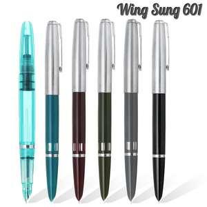 Image 1 - 2020 דגם אגף סונג 601 Vacumatic מזרקת עט בוכנה סוג דיו עט כסף כובע מכתבים משרד בית ספר אספקת מתנה