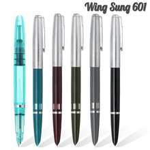 2020 Wing Sung 601 Vacumaticอันโดดเด่นFountainปากกาลูกสูบประเภทหมึกปากกาเงินหมวกเครื่องเขียนอุปกรณ์สำนักงานโรงเรียนการเขียนของขวัญ
