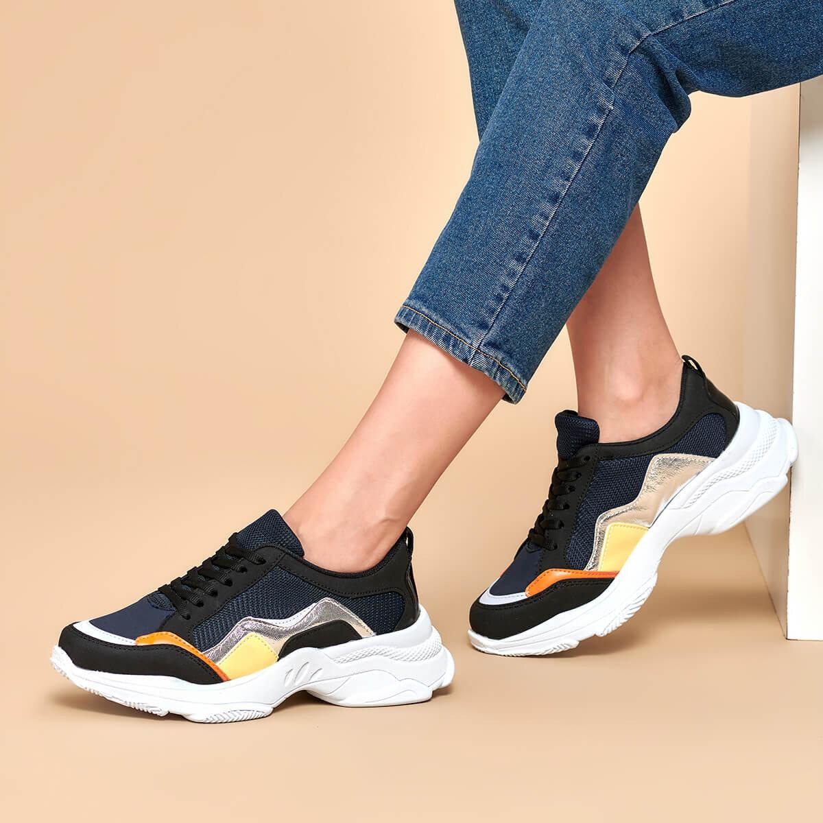 FLO 19K-070 Navy Blue Women 'S Sneaker Shoes BUTIGO