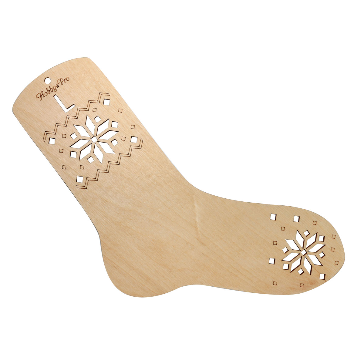 Нв-001 Blocker-pattern For Knitting Sock L (26 Cm On The Insole), Plywood Hobby & Pro