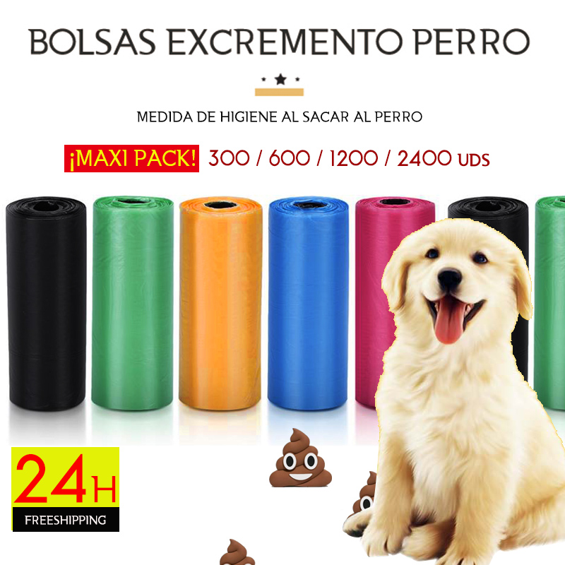 Dog Poop Bag 300-2400 Bags 22.9x33 Cm 20/40/80/160 Rolls Dog Poog Bags Dog Bag Poop Dog Waste Bag Free Shipping From Spain