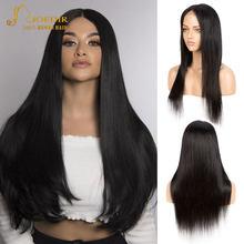 Peluca de cabello malayo con malla frontal para mujeres negras peluca recta prearrancada, 4x4 13X4 360, peluca con malla frontal, cabello Remy Joedir de 30 pulgadas