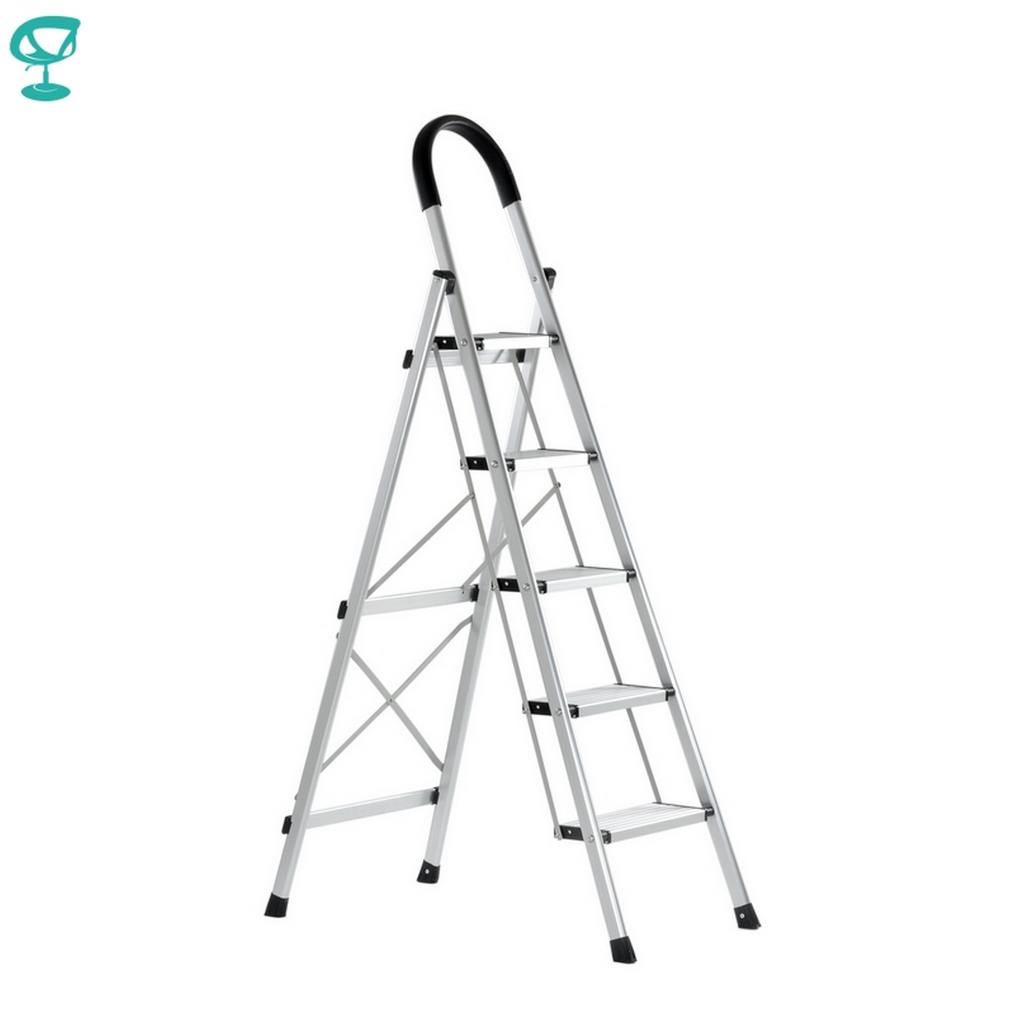 95676 Barneo ST-25 Ladder Aluminum 5 Stages Single Side Max Load 150 Kg Free Shipping To Russia