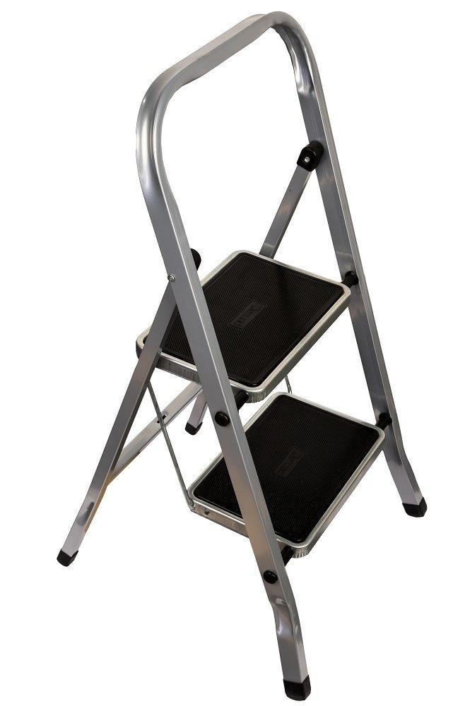 """Лестница стремянка """"FIT"""", стальная, 2 широкие ступени, 83 см        АлиЭкспресс"""